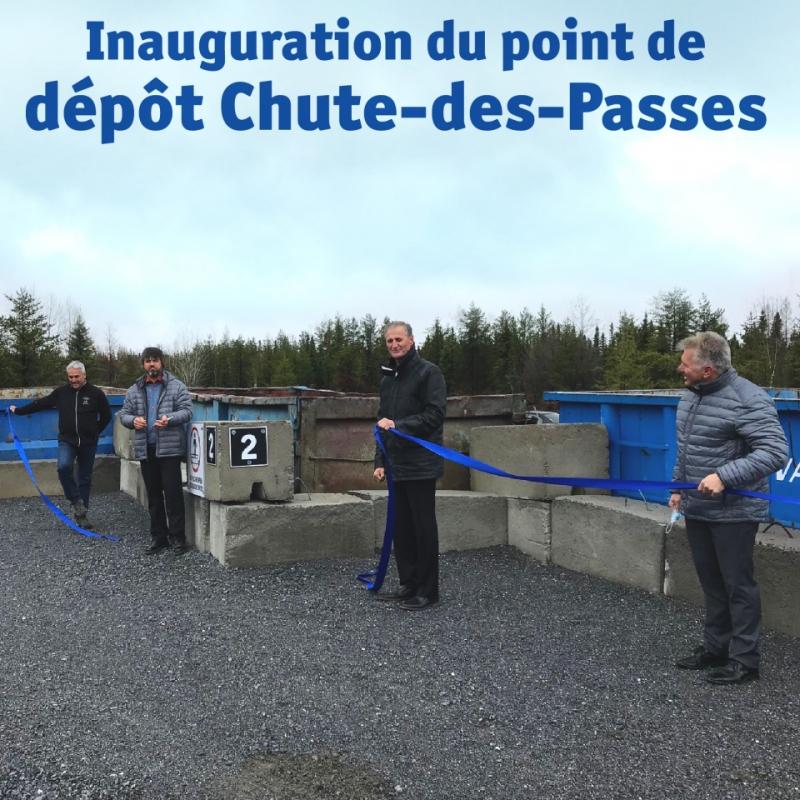 Nouveau point de dépôt Chute-des-Passes Actualités À la une